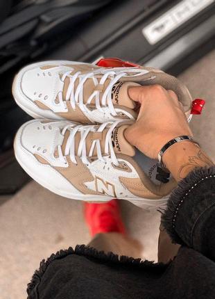 Крутые кроссовки new balance 608 white/beige (весна-лето-осень)😍2 фото