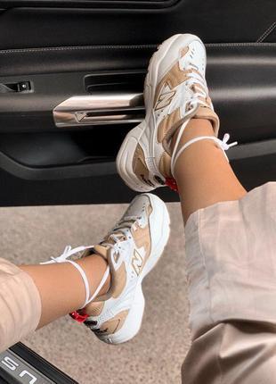 Крутые кроссовки new balance 608 white/beige (весна-лето-осень)😍3 фото