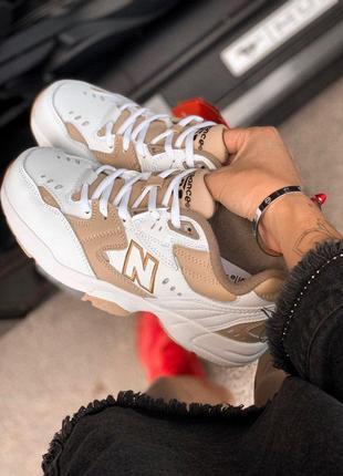 Крутые кроссовки new balance 608 white/beige (весна-лето-осень)😍4 фото