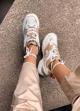 Крутые кроссовки new balance 608 white/beige (весна-лето-осень)😍6 фото