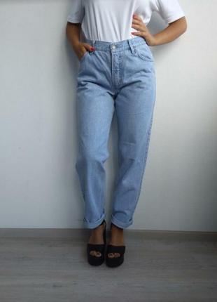 🌟мом с высокой посадкой h.i.s. джинсы голубые бойфренды