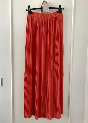 Шикарная плиссированная юбка- макси.