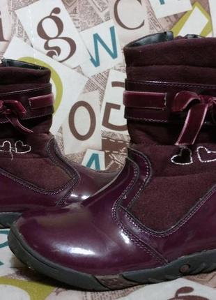 Демисезонные сапоги, ботинки,кожа, тёплые, 17см