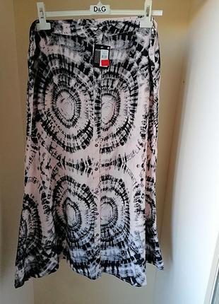 Новая с биркой летняя юбка в пол макси батал большой размер принт atmosphere (к059)