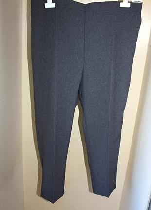 Новые с биркой классические серые укороченные брюки батал большой размер (к060)