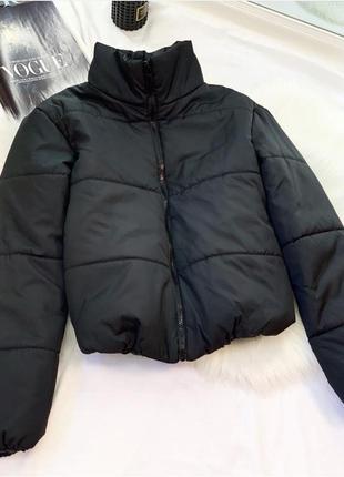Новая куртка, пуховик зефирка чёрная1 фото