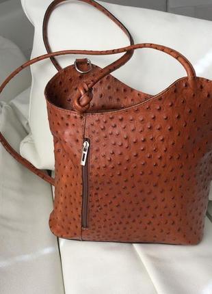Фигурный рюкзак сумка страус италия