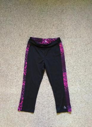 Фирменные спортивные лосины бриджи united sport active wear размер s в идеале