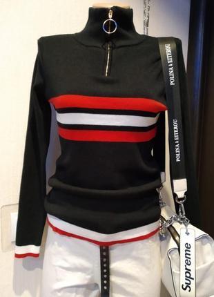 Стильная брэндовая водолазка джемпер свитер пуловер новый