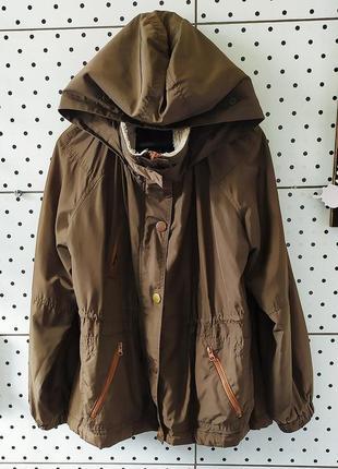 Куртка крутая ветровка с капюшоном обмен обмін осень курточка бомбер river island рр s m l