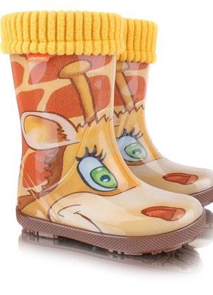 🍀 резиновые сапоги demar hawai lux exclusive жираф 🍀