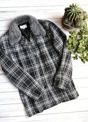 Пальто пиджак шерсть тёплое xl xxl