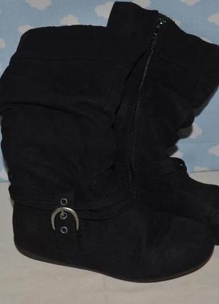 13 размер 20 см обалденные сапоги ботинки деми под нубук моднице девочке