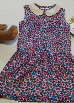 """Красивая блуза с воротником без рукавов """"marks&spencer"""", 9-10 лет, 140 см"""