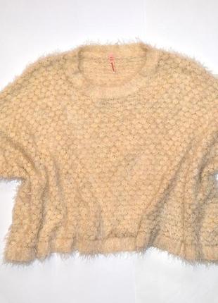Укороченный свитер балахон , очень свободный, французский бренд tu sweewё