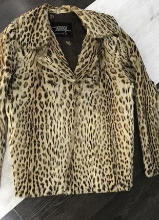 Косуха шуба натуральне хутро леопард