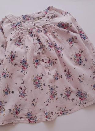 Симпатичная блуза некст в цветочки р.110