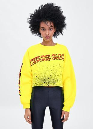 Новый свитшот свитер на флисе zara