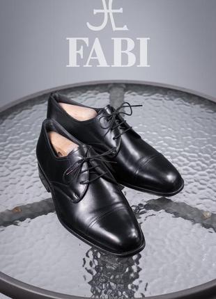 Дерби премиум класса fabi, италия 40р мужские кожаные туфли люкс оксфорды