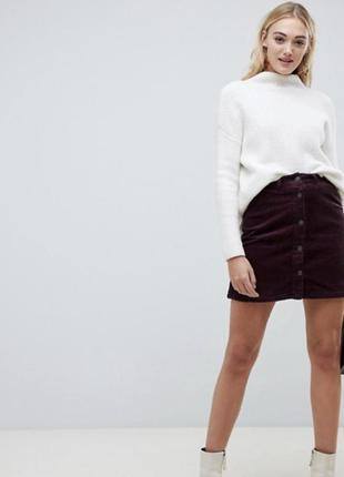Вільветова юбка на ґудзиках від denim co🖤🖤🖤