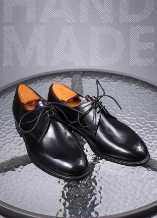 Кожаные лаковые дерби 42,5р мужские классические туфли goodyear
