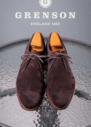 Дерби премиум класса grenson, англия 42,5-43р кожаные мужские туфли