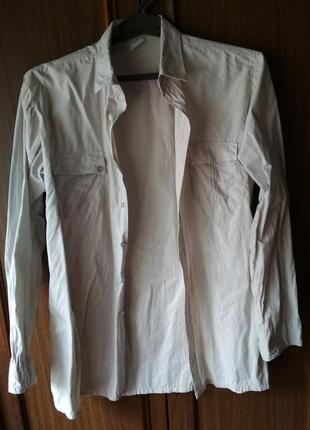 Мужская рубашка светло-серая корея {размер 41/176-182}