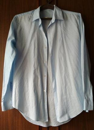 Мужская рубашка светло-голубая {размер 41/176-182}