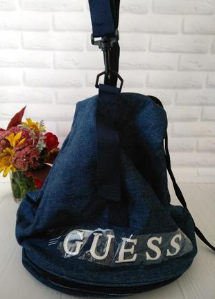 Спортивный джинсовый рюкзак guess