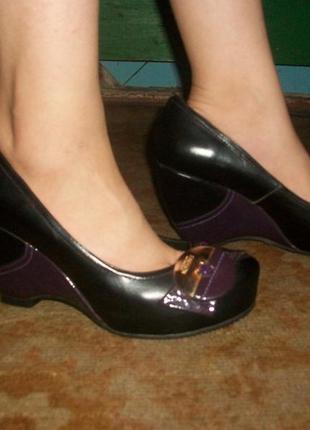 Туфли женские кожаные размер 40!