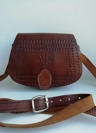Шкіряна сумка кросбоді ручної роботи hand made!!!