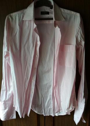 Мужская рубашка нежно-розовая e'nriko обмен обмiн
