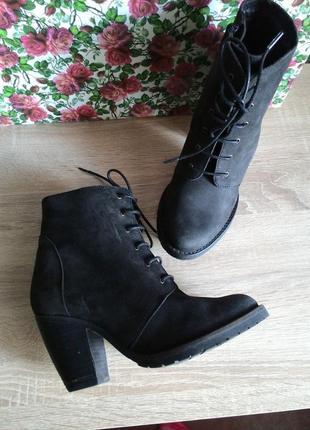 Ботильоны нубук, дания, в идеале, bianco footwear