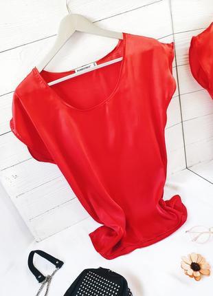 Атласная блуза футболка атлас шелковая