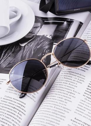 Овальные, круглые солнцезащитные темные очки, сонцезахисні сонячні окуляри