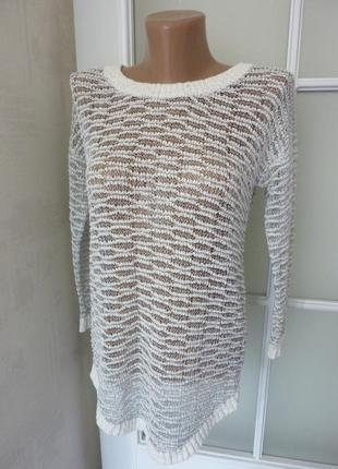 Кофта блуза сетка с люриксом металлической нитью