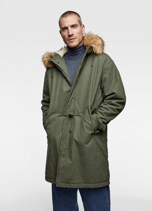 Мужская куртка парка zara