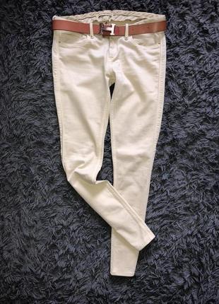 Супер оригинальные бедровки джинсы бежевого цвета бренд twenty8twelve {zelda}