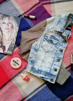 Jennifer короткая джинсовка джинсовый пиджак жакет куртка размер s осень весна тренд