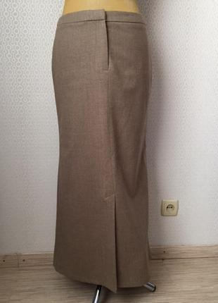 Оригинальная длинная шерстяная юбка - годе от бренда next, размер англ 14, укр 48-50