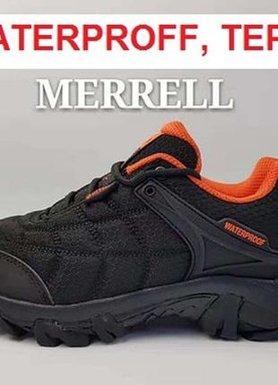 Merrell waterproof мужские термо водонепроницамые треккинговые кроссовки ботинки