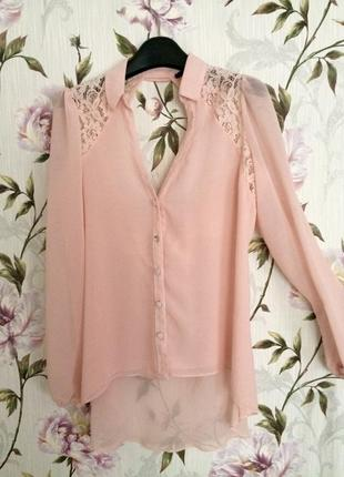 Шифонова блузка з відкритою спинкою