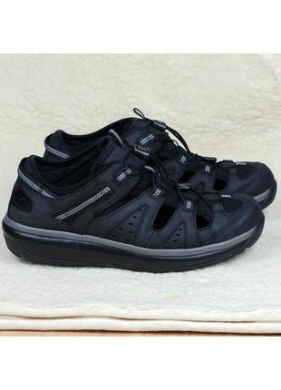 Кожаные физиологические кроссовки сандалии joya como black швейцария mbt 43-44р. 28,5 см.