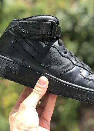 Nike air force високі шкіряні кросівки