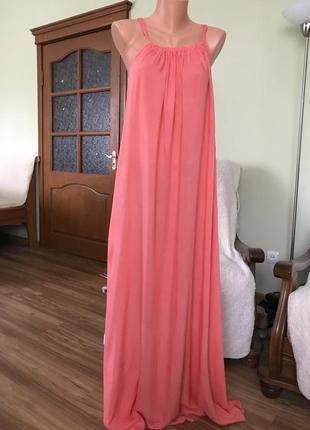 Хлопковое платье в пол