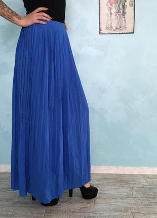 Гофрированная юбка макси