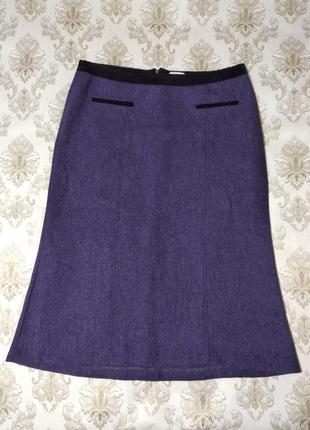 Теплая шерстяная юбка большого размера, 100%шерсть.