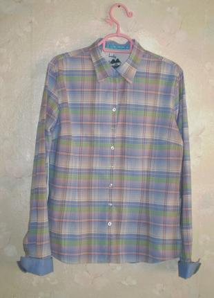 Рубашка в клетку lucky de luca р. l, хлопок, наш 48-50