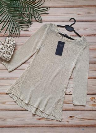 Красивый удлиненный свитер