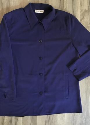 Удлиненная блуза с карманами